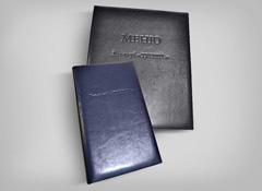 Папка меню и счётница для Яхт-клуба